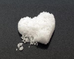Heart shaped cake of salt