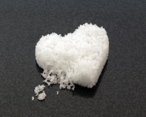 Heart shaped cake of salt