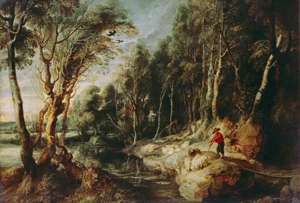 a-shepherd-with-his-flock-in-a-woody-landscape1