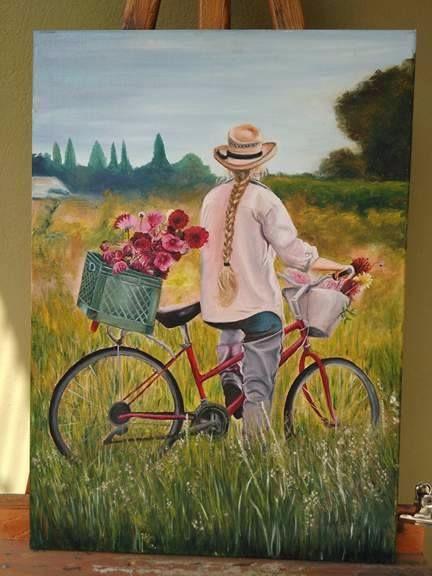 anette inselberg bisikletli kadın