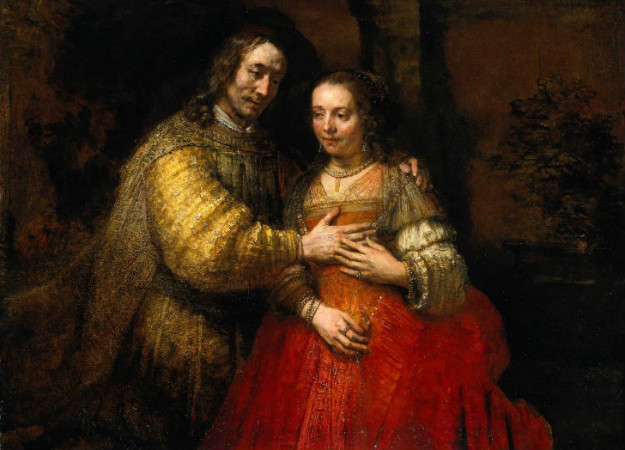 Rembrandt-Isaac-and-Rebecca-The-Jewish-Bride-1667