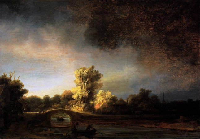 Rembrandt-Landscape-With-a-Stone-Bridge-1638