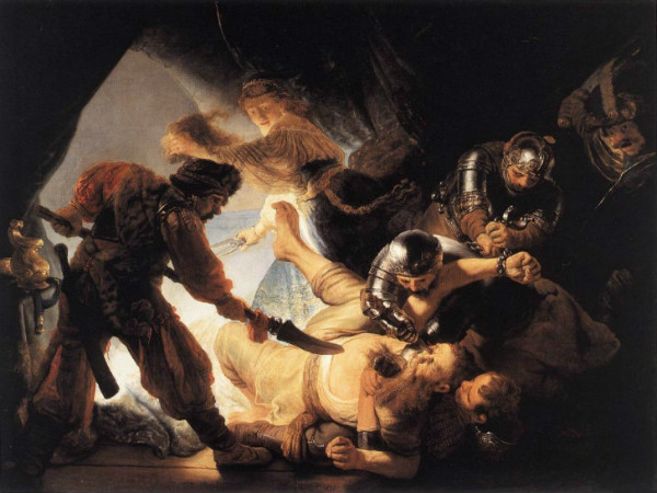 Rembrandt-Samson'un-Kör-Edilmesi-1636